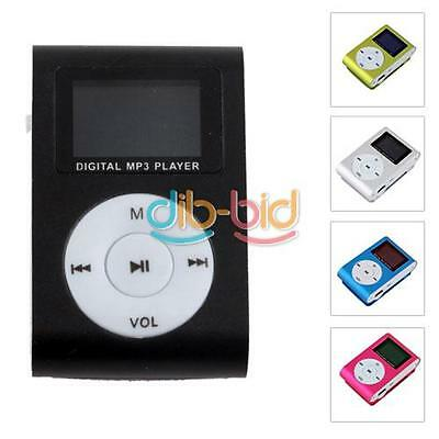 Metal Clip Digital MP3 Player LCD Screen for 16GB TF Card 5 Color Safe Delivery