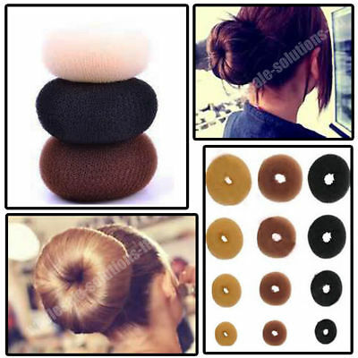 Fashion Updo Hair Donut Top Knot Style Doughnut Make Up Brush Remover