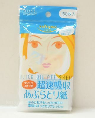 Kose Softymo Quick Oil Off Cleansing Sheet Paper 150 sheets