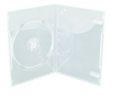 100 SLIM Clear Single DVD Cases 9MM