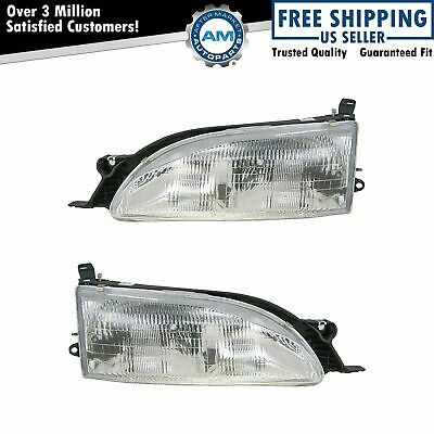 Headlights Headlamps Left & Right Pair Set NEW for 95-96 Toyota Camry