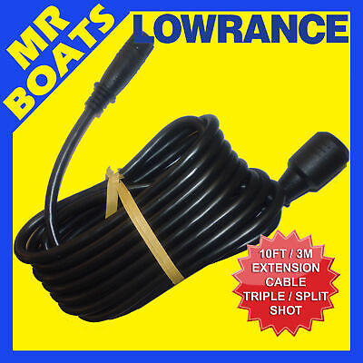 LOWRANCE 10ft TRANSDUCER EXTENSION CABLE HOOK2 ✱ SPLITSHOT TRIPLESHOT ✱FREE POST
