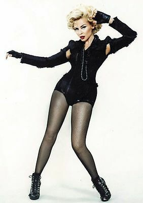 Kylie Minogue in Black Fishnet Stockings POSTER
