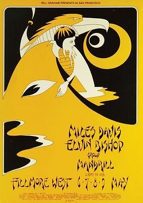 Miles Davis West 6-9 May POSTER