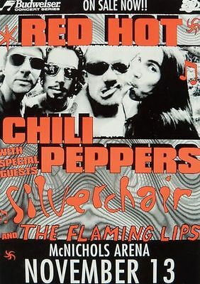 The Red Hot Chili Peppers  McNicols Arena Repro Tour POSTER