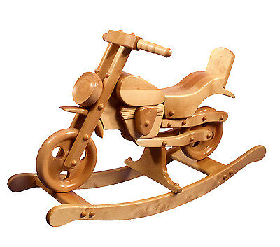 BRAND NEW ROCKING MOTORBIKE TOY SOLID WOOD rocking horse VIKING  MJmark