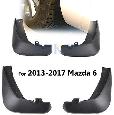 4Pcs Fit For  Mazda 6 2013-2016 (Gj) Molded Mud Flap Splash Guard Mudguards
