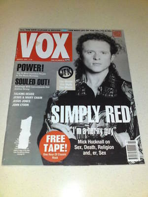 VOX MAGAZINE #18 - SIMPLY RED - March 1992