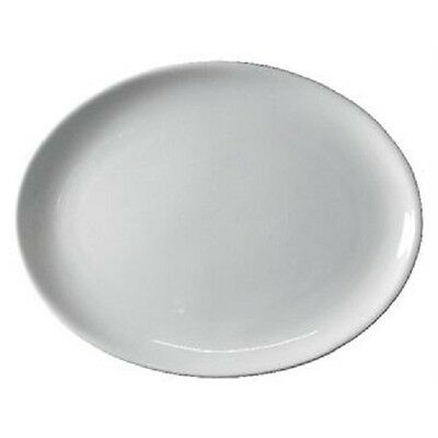 BOX OF 24 WHITE 30cm OVAL HOTELWARE PLATES