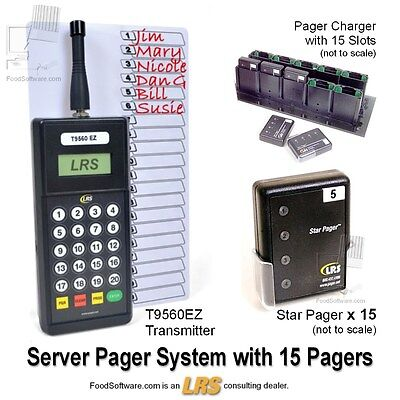 15 Server Pager Restaurant Paging System Kit by LRS Long Range Systems
