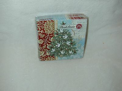 Punch Studio Tree Of Peace 20 Paper Beverage Napkins-New