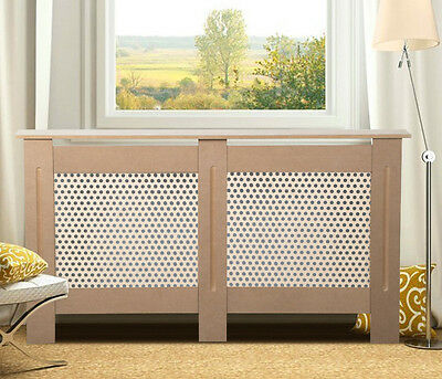 Unpainted Radiator Wall Cabinet Diamond Grill Cover Large Dark Wood Color