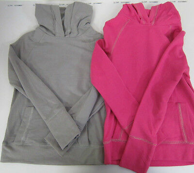 Girls  Plain Unpatterned Hoody - Grey or Bright Pink - Ages 5 - 11 years