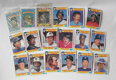 Lot of 18 Baseball Cards~~Quaker Chewy Granola Bars & Kellogg's Promotions