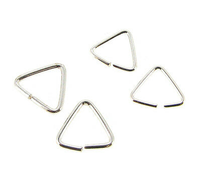 Sterling Silver Triangle Jump Ring Bail Pendant Connector Many Size