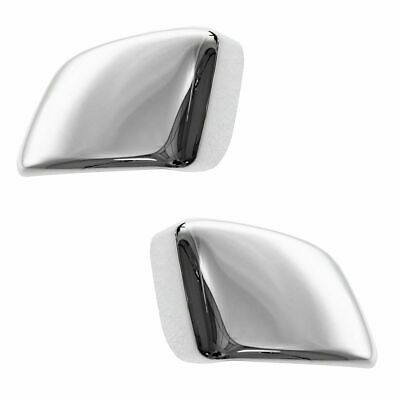 Chrome Tow Mirror Cap Cover Upgrade Left and Right Pair Set for Nissan Titan