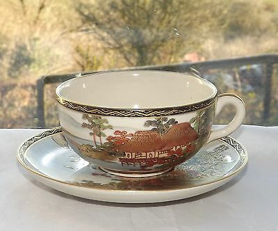 Early 20th Century Japanese Satsuma  Lovely Quality Cup and Saucer