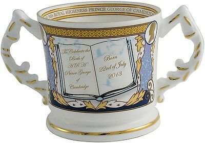 AYNSLEY ROYAL BABY 'PRINCE GEORGE OF CAMBRIDGE' LOVING CUP Ltd/Ed. 2013 (BIRTH)