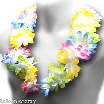 Child's Tropical Luau Fabric Flower Hula Girl Lei Necklace Party Decoration