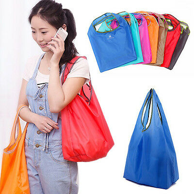 Nylon Storage Eco Reusable Shopping Bags Tote Foldable Grocery Bags Recycle Bag