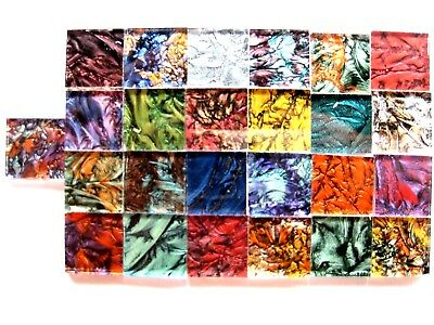 25 Mixed Van Gogh mosaic TILES 2cm x 2cm stunning colors