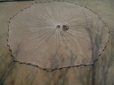 "4ft deep Nylon Cast/Throw Fishing Net Catch Live Bait 1/2"" square mesh"