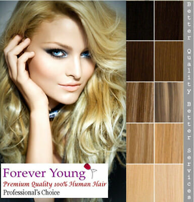 "Premium Clip in Remy Human Hair Extension 16"" 18"" 20"" Many Colour Choices"