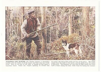 RUSSIAN WOODMAN AND HUNTER Russia Peasant Photograph Picture Art Print 1926