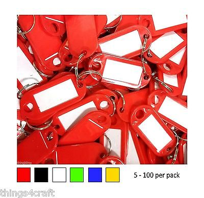 Key Tags ✦ Plastic Tag Labels ✦   Choose Colour & Pack Size   ✦  UK Company