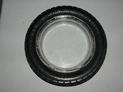 VINTAGE GOODRICH SILVERTOWN CORD 32x4 105/610 SKINNY TIRE ASHTRAY GLASS