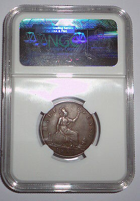 Great Britain Uk Coin 1/2 Penny 1861 Ngc Berries Xf 40 Bn