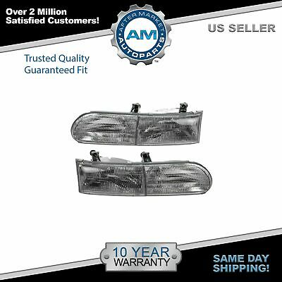 Headlamps Headlights Left LH & Right RH Pair Set for Ford Taurus
