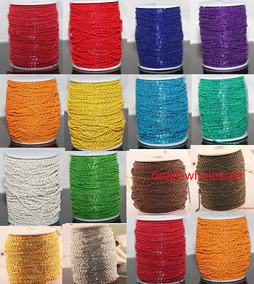 5m/100m  New Cable Open Link Iron Metal Chain Findings 10 Colors To Pick