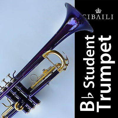 Purple Bb CIBAILI Trumpet • High Quality • Brand New With Case •