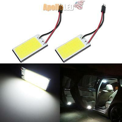 2pcs Xenon White T10 168 36mm COB LED Panel Replacement Door Dome Map lights #26