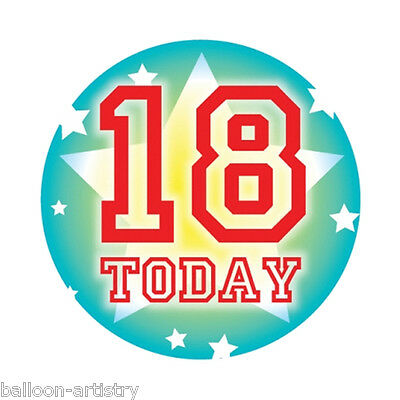 15cm Giant Green 18 Today 18th Birthday Gift Party Badge