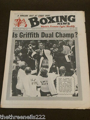 Boxing News - Is Griffith Dual Champ - July 22 1966