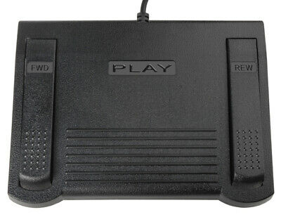 USB Transcription Foot Pedal for use with Free version of Express Scribe