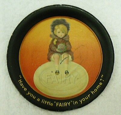 Old Small Round Fairy Soap Tin Tray