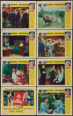 THE GREAT IMPOSTER 11x14 set TONY CURTIS/JOAN BLACKMAN orig lobby card posters