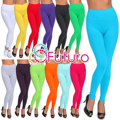 Full Length High Waist Leggings Genuine Cotton and Lycra All Sizes & Color LWPY