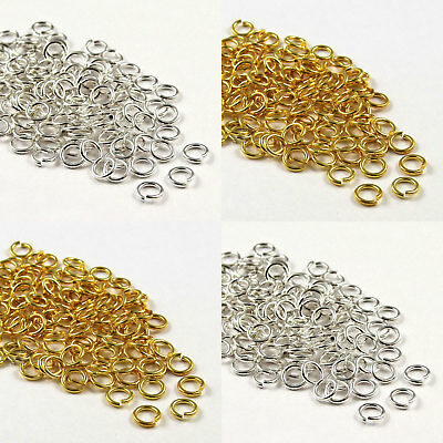 100 Gold & SILVER PLATED Metal SUPER STRONG JUMP RINGS! 6,7,8,9,10mm