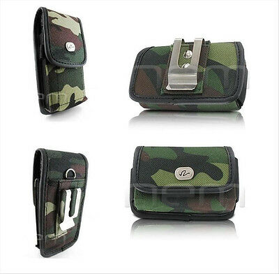 Rugged Camo Cover Case Pouch Clip Holster Phone Holder - Vertical / Horizontal