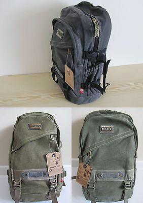 New Men Large Travel Satchel School Canvas Backpack Rucksack Shoulder Bag UK