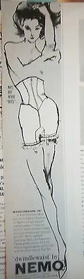 1962 Vintage Dwindlewaist Womens Girdle with Garters by NEMO Ad