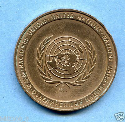 médaille des nations unies .united nations .. 1971 .. paix .paz .peace .