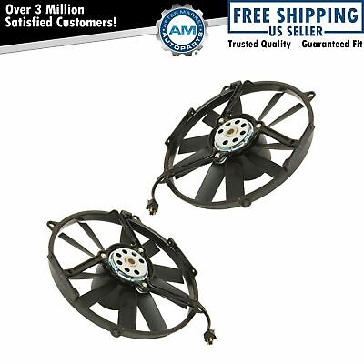 Auxiliary Radiator Fan Pair Set of 2 for Mercedes Benz MB 300 400 500 E Series