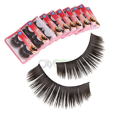 New Pro 20 Pairs 0.51 inch Soft Synthetic Fiber False Eyelashes C-47