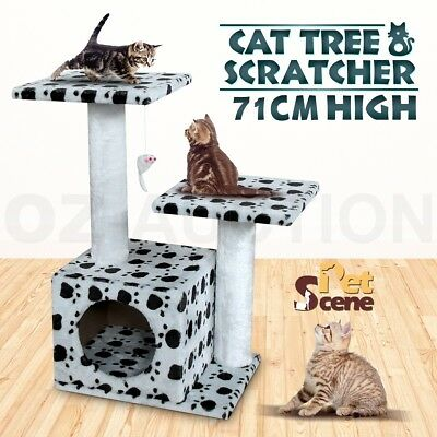 71cm Cat Tree Post Toy Pole Furniture Gym House Condo Bed 3 Levels