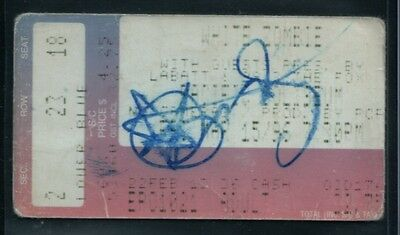 1996 White Zombie Sean Yseult autographed ticket stub Vancouver BC Canada RARE